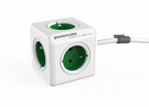 Allocacoc Listwa zasilająca PowerCube Extended 1,5m 2300GN/FREXPC Zielony