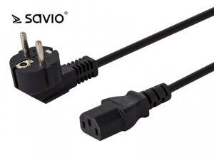 Elmak Kabel zasilający SAVIO CL-98 C13/ C/F Schuko kątowy 1,8m