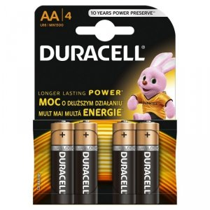Duracell Baterie basic AA/LR6 4szt blister