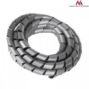 Maclean Osłona maskująca na kable MCTV-687S  (20.4*22mm) 3m srebna spirala