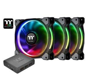 Thermaltake Riing Plus 14 RGB TT Premium Edition 3 Pack (3x140mm, LNC, 1400 RPM)