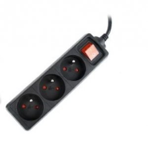 Gembird UPS listwa zasilająca 3FR/16A/C14/0.6m/czarna