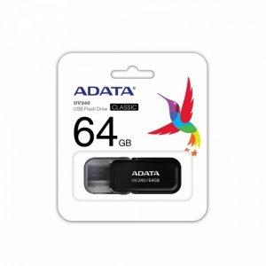 Adata Pendrive UV240 64GB USB 2.0 Czarny