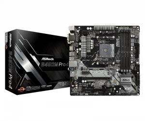 ASRock Płyta główna B450M PRO4 AM4 4DDR4 HDMI/VGA/DVI M.2 micro ATX