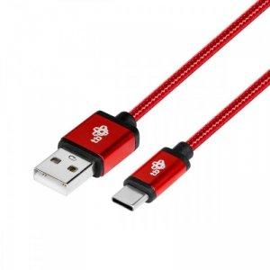 TB Kabel USB-USB C 1.5m rubinowy sznurek