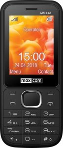 Maxcom Telefon MM 142 DUAL SIM czarny