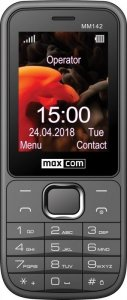 Maxcom Telefon MM 142 DUAL SIM szary