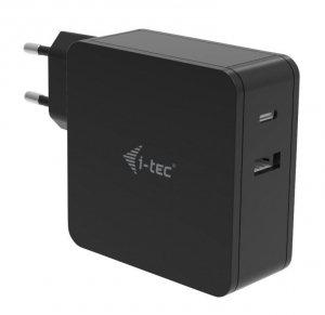 i-tec Uniwersalny zasilacz sieciowy USB-C  60W Power Delivery,   1x USB-C port 60W, 1x USB-A port 12W