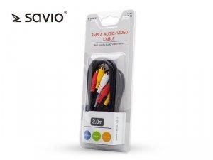 Elmak Kabel audio CLS-14 Savio RCSx3, 2m