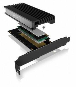 IcyBox Karta PCIe z gniazdem M.2 M-Key dla jednego dysku SSD M.2 NVMe IB-PCI214M2-HSL