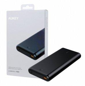 AUKEY PB-XD26 Black ultraszybki Power Bank | 26800 mAh | 2xUSB | 6A | Quick Charge 3.0 | Power Delivery | kabel USB-C
