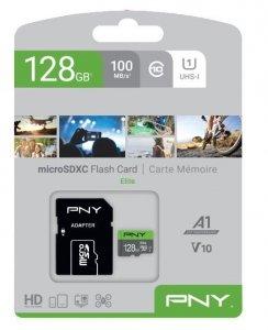 PNY Karta pamięci MicroSDXC 128GB P-SDU128V11100EL-GE