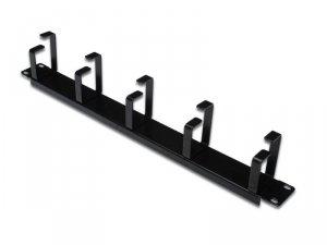 Digitus Organizer kablowy poziomy typu RING 19 1U 40x483x60mm czarny