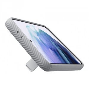 Samsung Etui Protective Stan ding Cov.S21+Light Gray