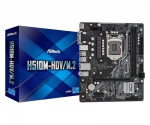 ASRock Płyta główna H510M-HDV/M.2 s1200 2DDR4 HDMI/DVI/D-SUB M.2 mATX