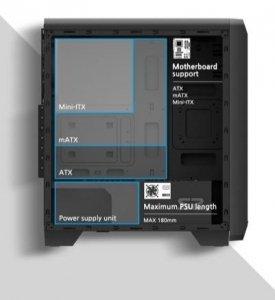 Zalman Obudowa S2 ATX Mid Tower PC Case 120mm fan