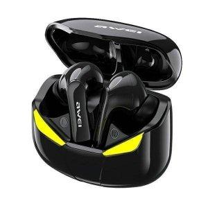 AWEI Słuchawki Bluetooth 5.0 T35 TWS + Stacja dokująca -Dla Graczy- czarne
