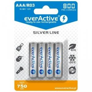 everActive Akumulatory paluszki R03/AAA 800 mAH blister 4 szt.