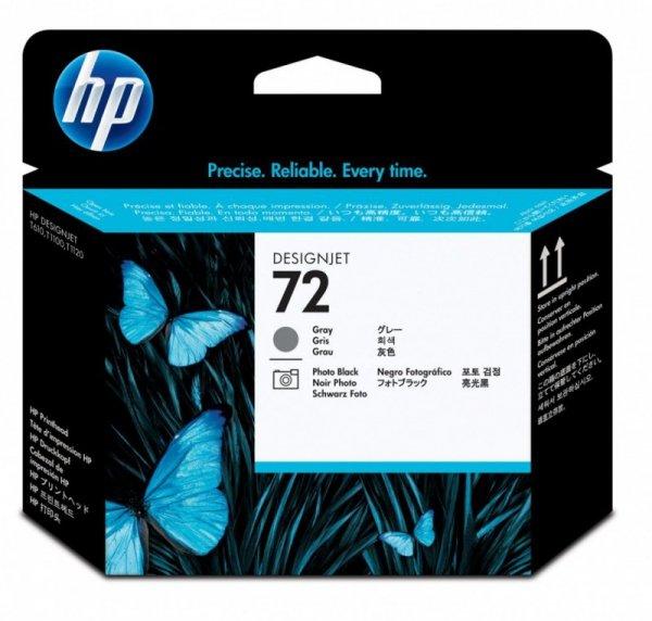 HP Inc. Głowica nr 72 Czarna & Szara Fotograficzna C9380A
