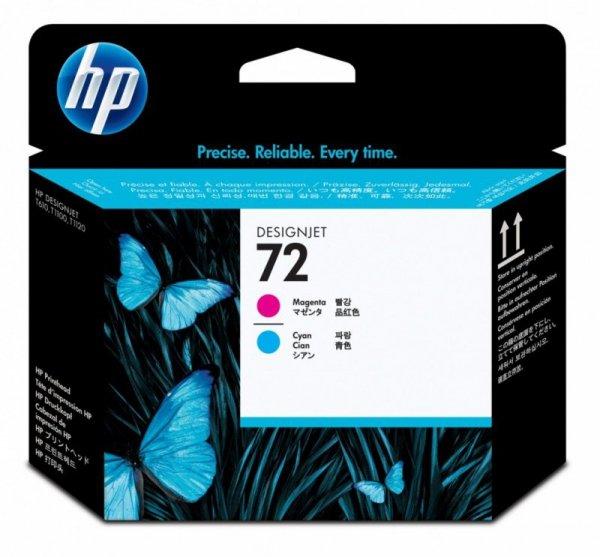 HP Inc. Głowica nr 72 Purpurowy (Magenta) & Błękitny (Cyjan) C9383A