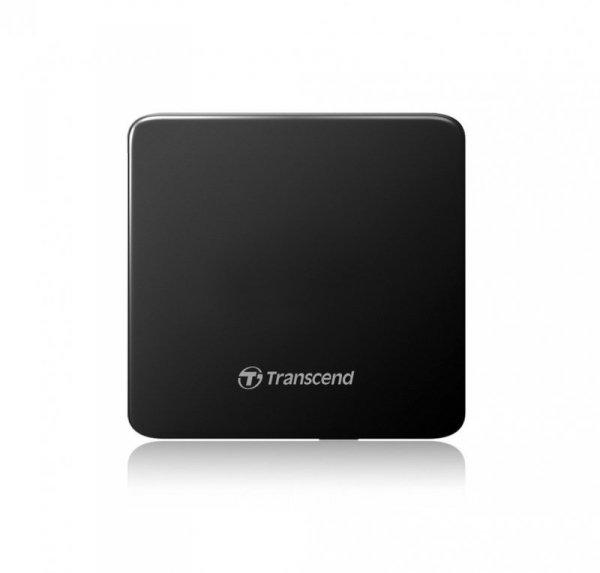 Transcend Nagrywarka zewnętrzna Ultra-slim DVD USB czarna