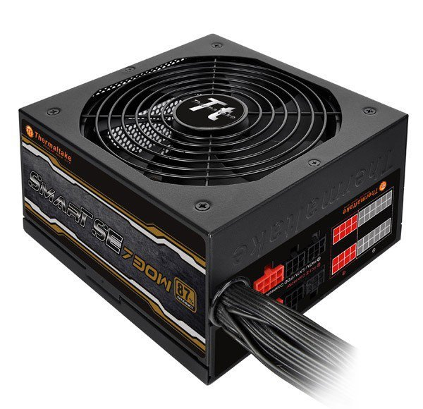 Thermaltake Smart SE 730W Modular (sprawność 80+ Bronze dla 230V, 4xPEG, 140mm, Single Rail)