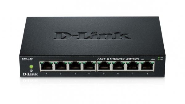 D-Link Switch 8-port 10/100 Metal Housing