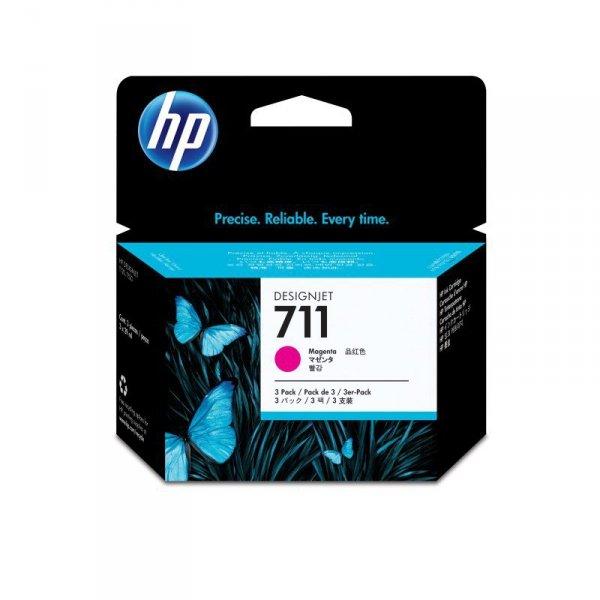 HP Inc. Tusz 711 29ml Magenta 3-Pack CZ135A