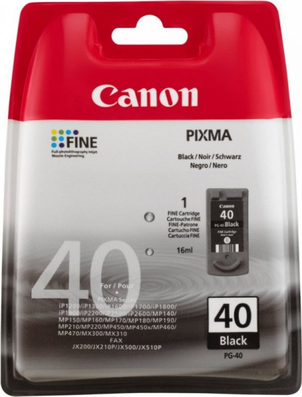 Canon Tusz PG-40 Black PG-40 non blister