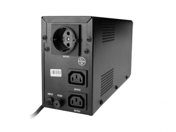 Gembird UPS LINE-INTERACTIVE 650VA 2X IEC, 1X SCHUKO 230V, LCD