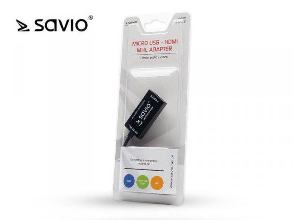 Elmak Aktywny adapter MHL micro USB 5 pin - HDMI AF SAVIO CL-32