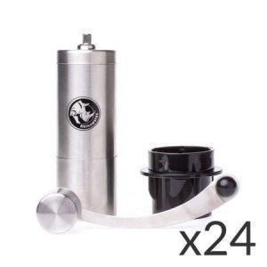 Rhinowares Hand Coffee Grinder - Młynek ręczny z adapterem do AeroPress (zestaw 24 sztuki)