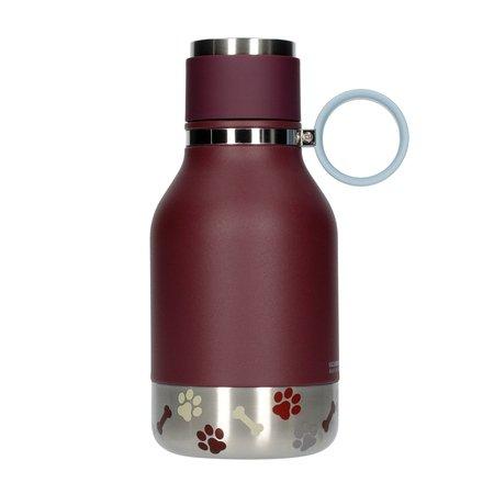Asobu - Dog Bowl Bottle Stainless Steel Fioletowa - Butelka z miska dla psa 1,1L