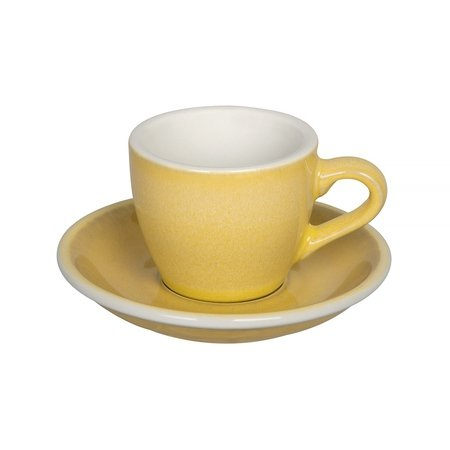 Loveramics Egg - Filiżanka i spodek Espresso 80 ml - Butter Cup