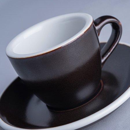 Loveramics Egg - Filiżanka i spodek Espresso 80 ml - Gunpowder