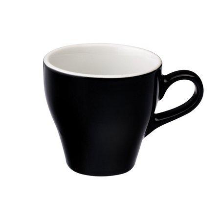 Loveramics Tulip - Filiżanka i spodek Cafe Latte 280 ml - Black