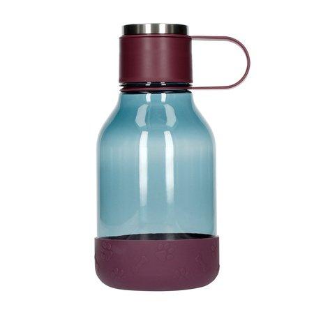 Asobu - Dog Bowl Bottle Tritan Fioletowa - Butelka z miską dla psa 1,5L