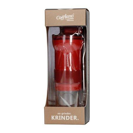 Cafflano Krinder - Młynek ręczny - Czerwony