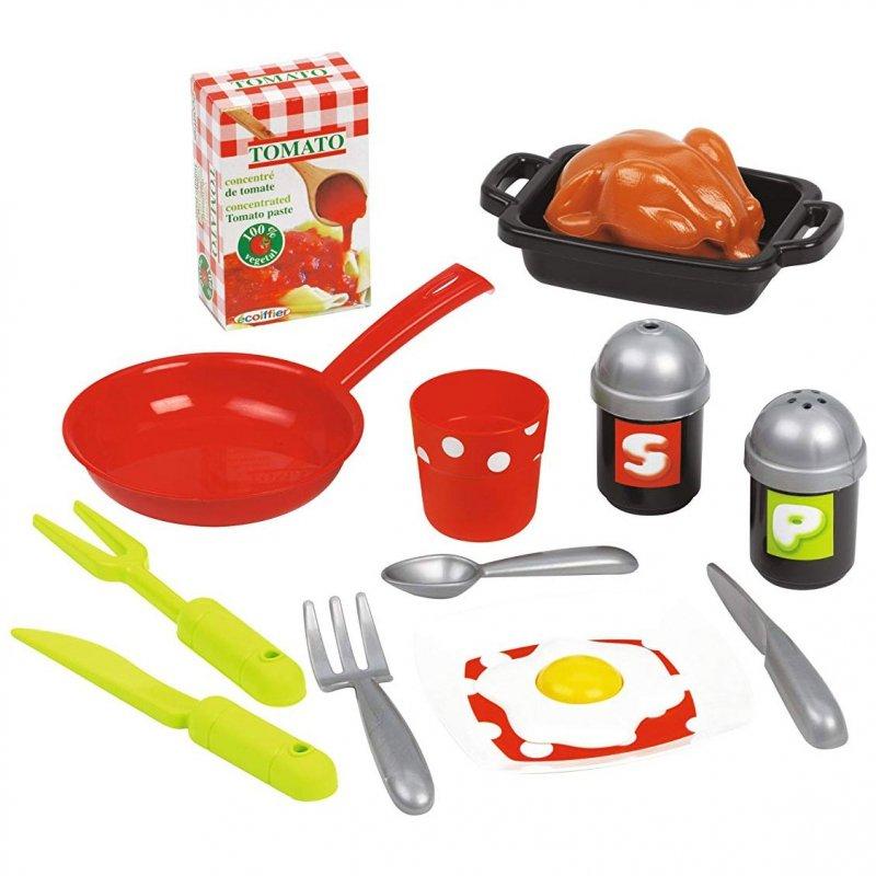 Ecoiffier Kuchnia - 17 elementów