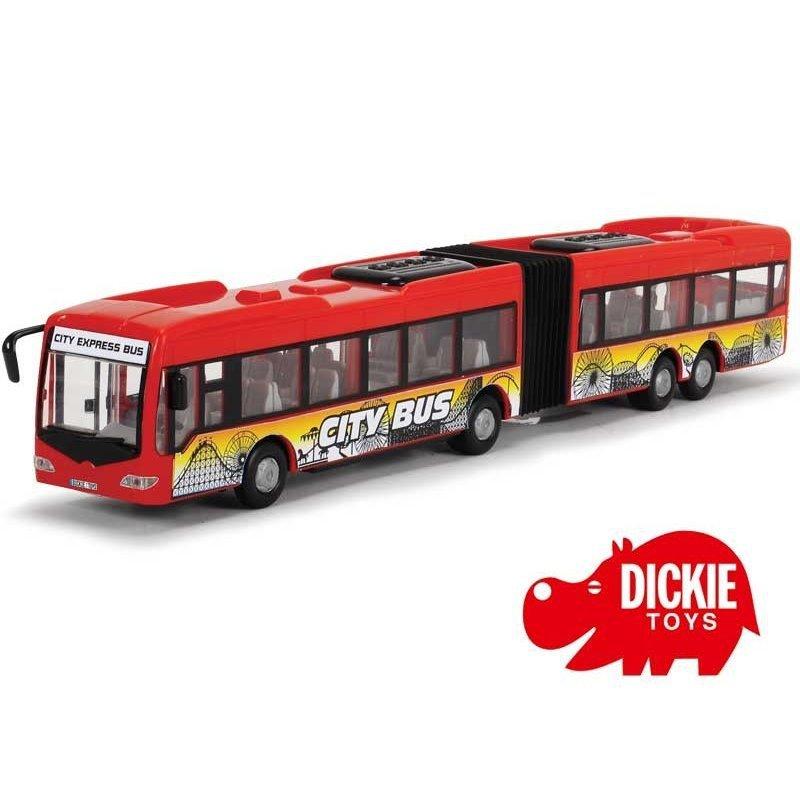 Przegubowy Autobus City Express 46cm  czerwony Dickie