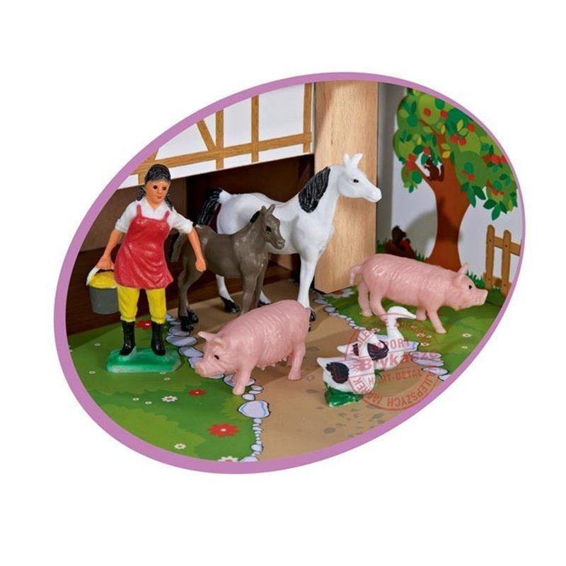 EICHHORN Drewniana FARMA Zwierzęta 12 FIGUREK