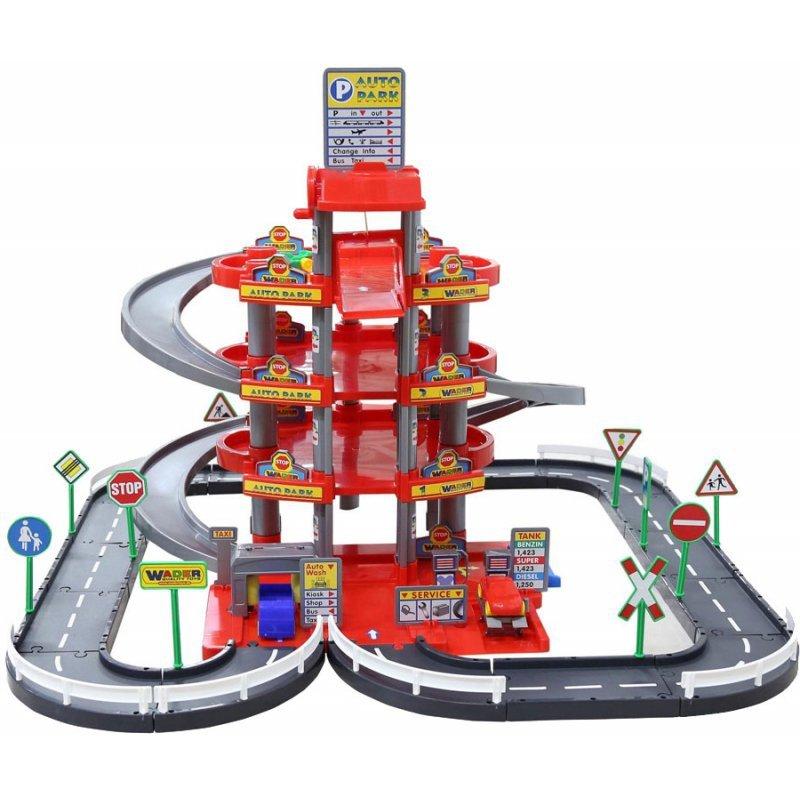 WADER QT  Wielki garaż Auto Park 3 auta Myjnia Tor 4 poziomy