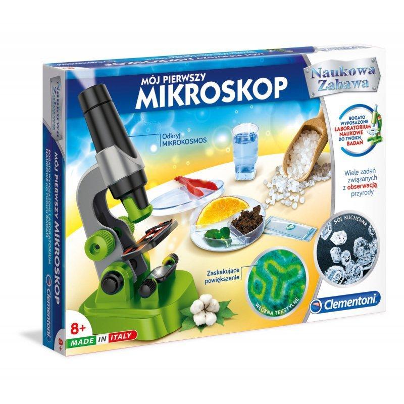 Clementoni Mój PIerwszy Mikroskop + akcesoria