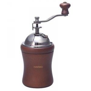 Młynek do kawy HARIO Coffee Mill Dome MCD-2 (ręczny, żarnowy; kolor ciemnobrązowy)