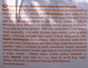 KARMA JOSERA BAVARO Solid 20/8 18kg