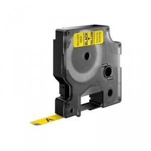 Taśma DYMO D1- 9mm x 7m czarny/żółty S0720730 (9 mm )