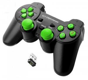 Gamepad bezprzewodowy Esperanza GLADIATOR EGG108G (PC, PS3; kolor czarny)