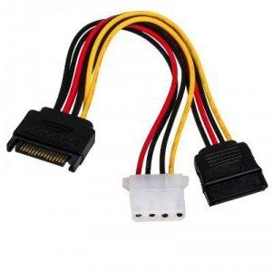 Kabel Akyga AK-CA-32 (SATA - Molex 4-pin, SATA ; 0,15m; wielokolorowy)