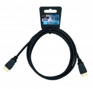 Kabel IBOX FULLHD HD01 1,5M 1.4V 13C+1 ITVFHD0115 (HDMI M - HDMI M; 1,5m; kolor czarny)