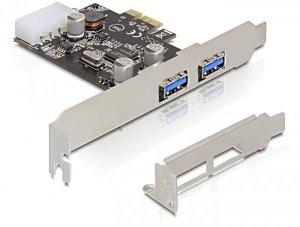 DELOCK KARTA PCI-E -> USB 3.0 2-PORT 89243